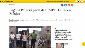 Laguna Pai será parte de FIMPRO 2017 en México