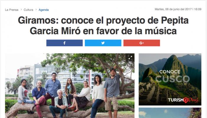 Giramos: conoce el proyecto de Pepita Garcia Miró en favor de la música