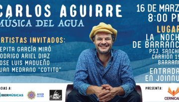 "Carlos Aguirre llega a  Lima con ""Música del Agua"""