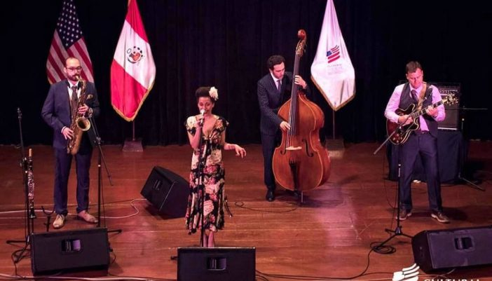 Saphie Wells & The Swing Cats por primera vez en Arequipa