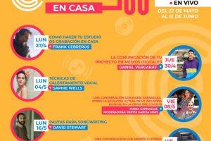 #GiramosEnCasa:  Encuentros profesionales de música, gratuito y online